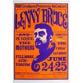 Lenny Bruce - 1966 Concert Poster