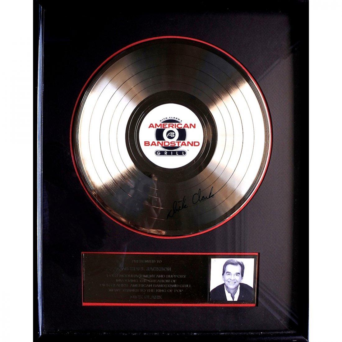 Dick Clark - Michael Jackson - Signed Record Award