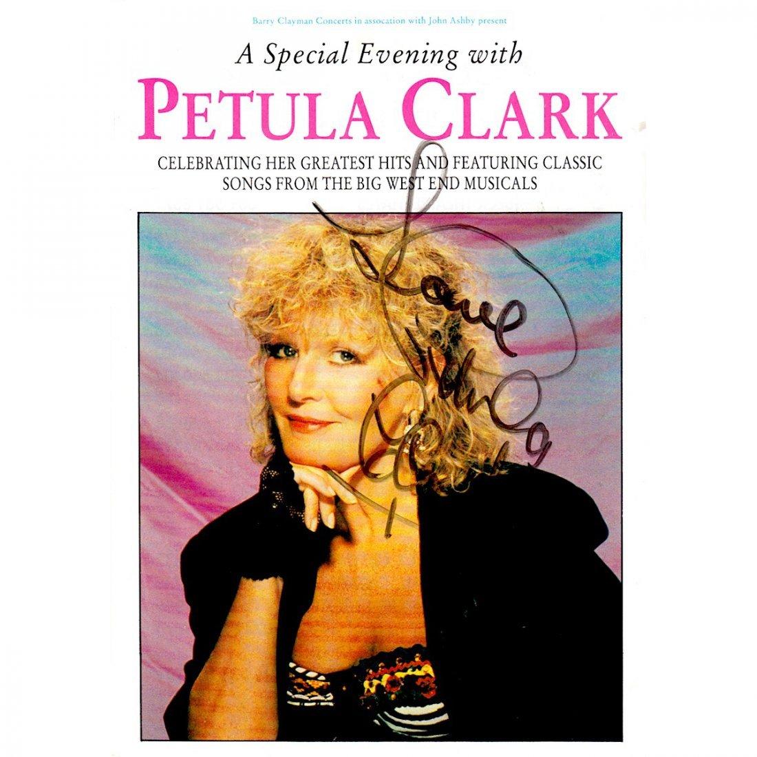 Petula Clark Autographed Handbill
