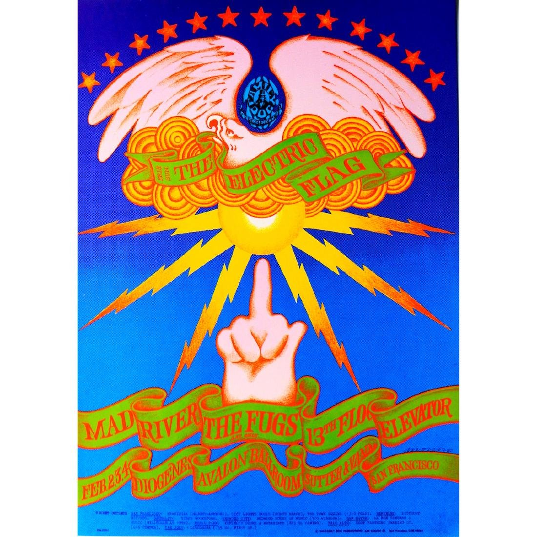 Electric Flag - 1968 Family Dog Concert Poster