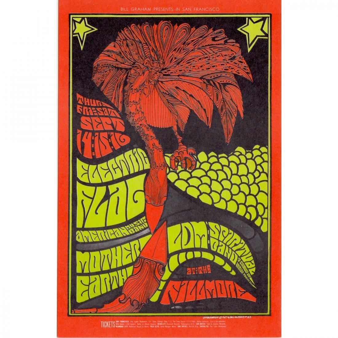 Electric Flag - 1967 Fillmore Concert Handbill