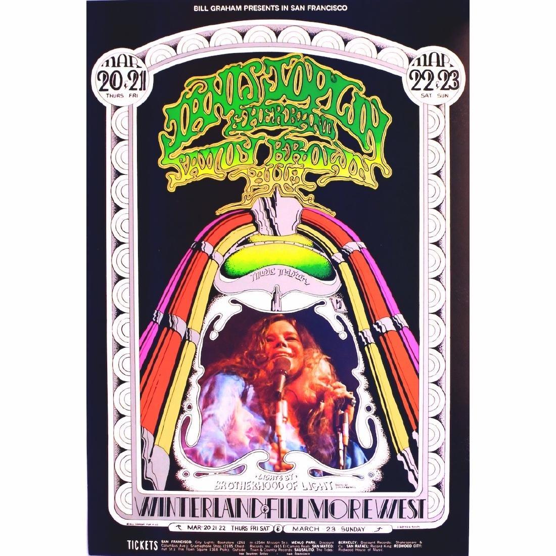 Janis Joplin - 1969 Concert Poster