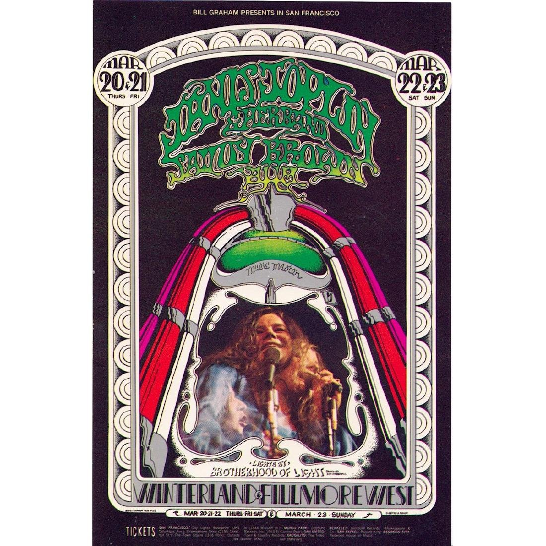 Janis Joplin - 1969 Concert Handbill