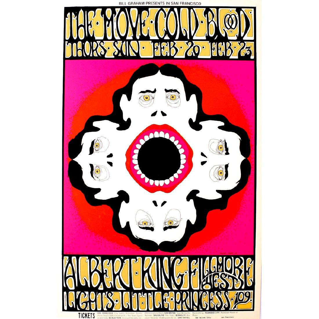 The Move - Albert King - 1969 Concert Poster