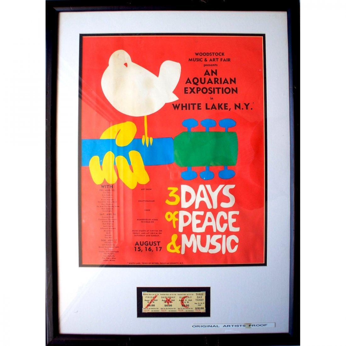 Woodstock - Arnold Skolnick Artist Proof Concert Poster