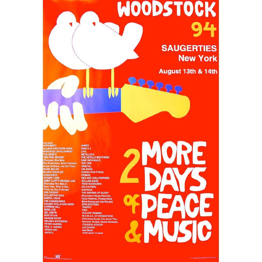 Woodstock Music Festival - 1994 Concert Poster
