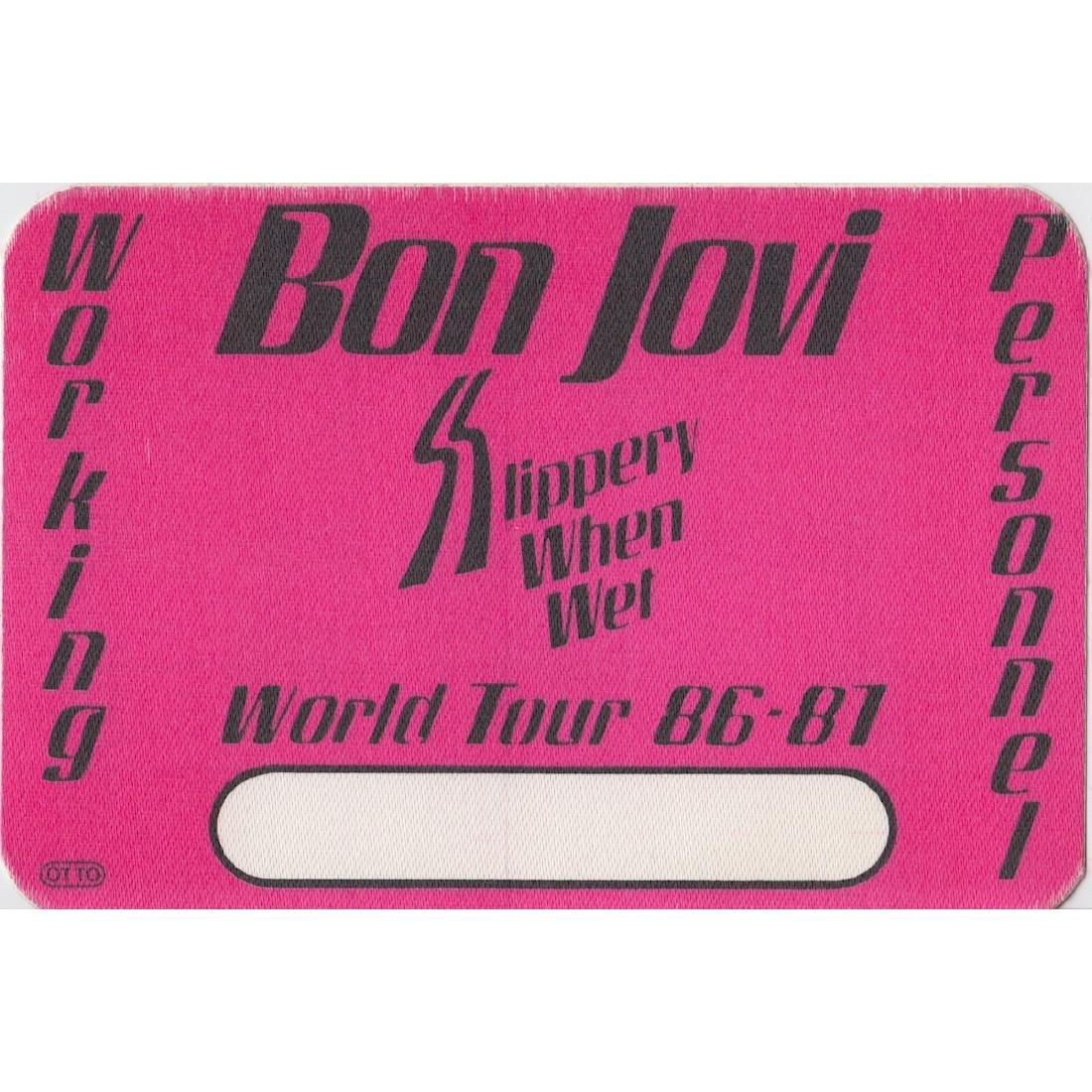 Bon Jovi 1989 Laminated Backstage Pass