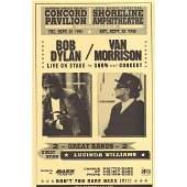 Bob Dylan  Van Morrison  1998 Concert Poster