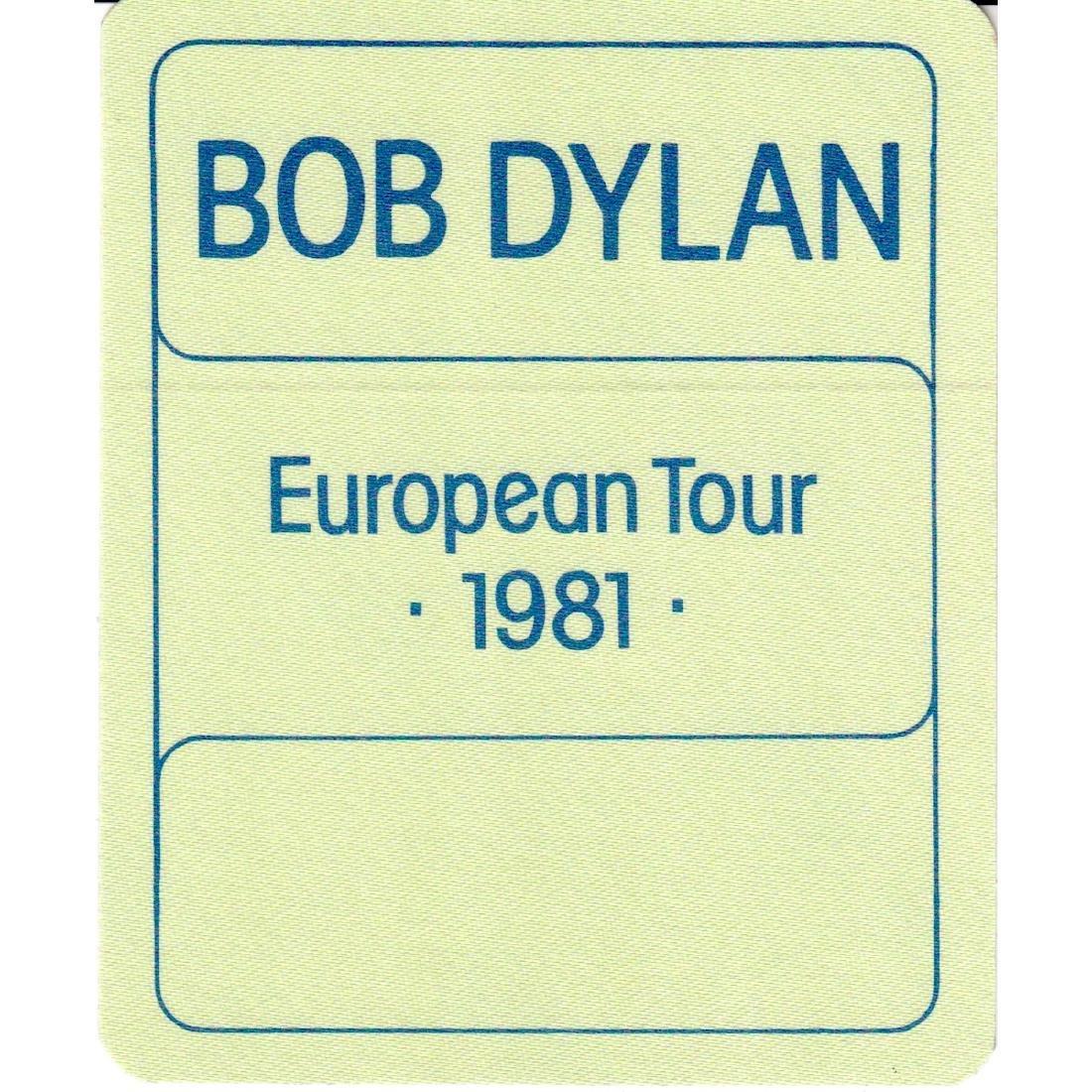 Bob Dylan - 1981 Backstage Pass