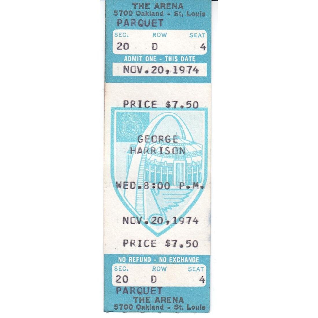 George Harrison - 1974 Vintage Concert Ticket