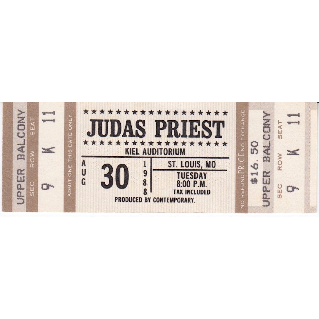 Judas Priest - 1988 Vintage Concert Ticket