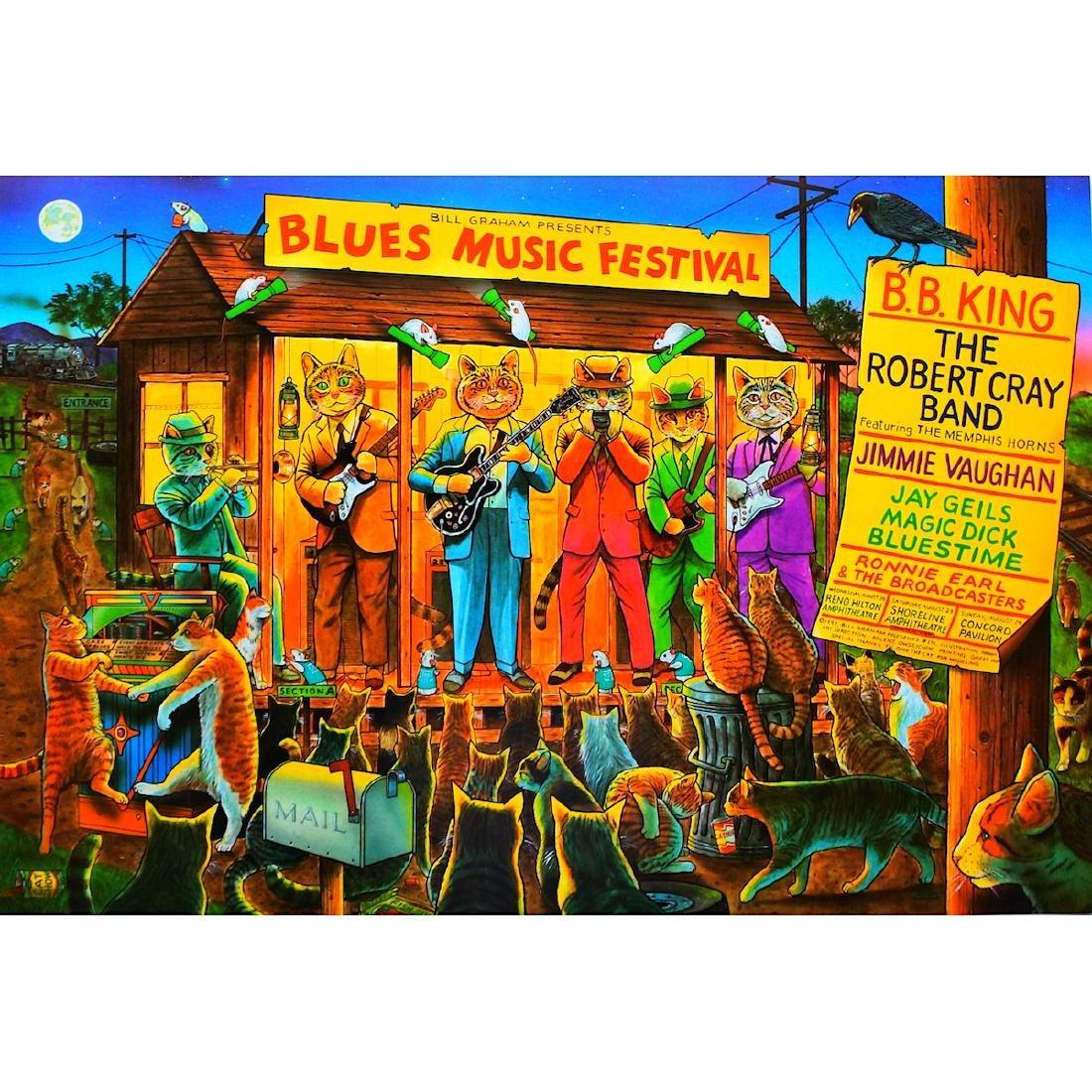 B.B. King - Robert Cray Band - 1997 Concert Poster