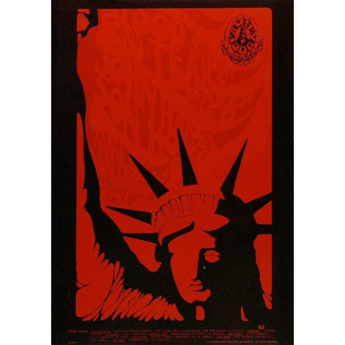 Blood, Sweat & Tears - 1968 FD Concert Poster