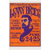 Lenny Bruce - 1966 Concert Handbill