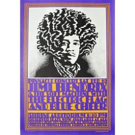 Jimi Hendrix - 1968 Pinnacle Concert Poster