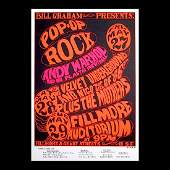 Andy Warhol  1966 Fillmore Concert Poster