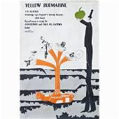 The Beatles - Yellow Submarine - 1968 Movie Poster