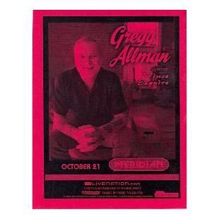 Gregg Allman 2007 Concert Handbill