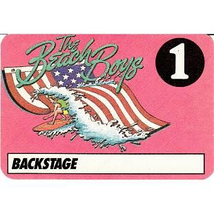 The Beach Boys 1986 Backstage Pass