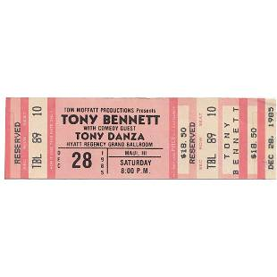 Tony Bennett 1985 Vintage Concert Ticket