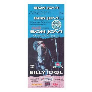 Bon Jovi 1993 Vintage Concert Ticket