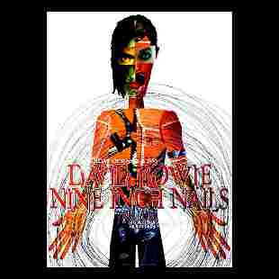 David Bowie Nine Inch Nails 1995 Concert Poster