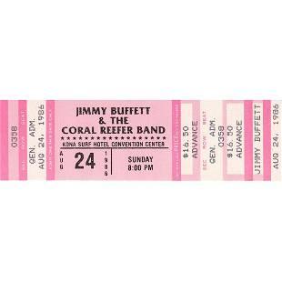 Jimmy Buffett 1986 Vintage Concert Ticket