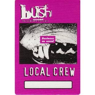 Bush 1996 Backstage Pass