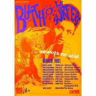 Butthole Surfers 1991 Signed Concert Poster
