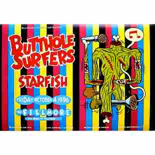 Butthole Surfers 1996 Concert Poster