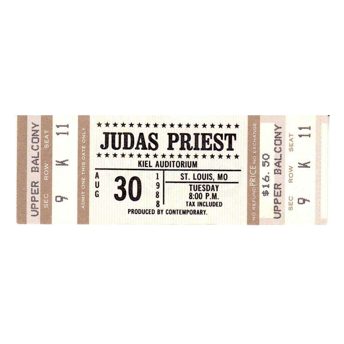 Louis MO Sale JUDAS PRIEST 1988 Vintage Unused Concert Tour Ticket Kiel Auditorium St