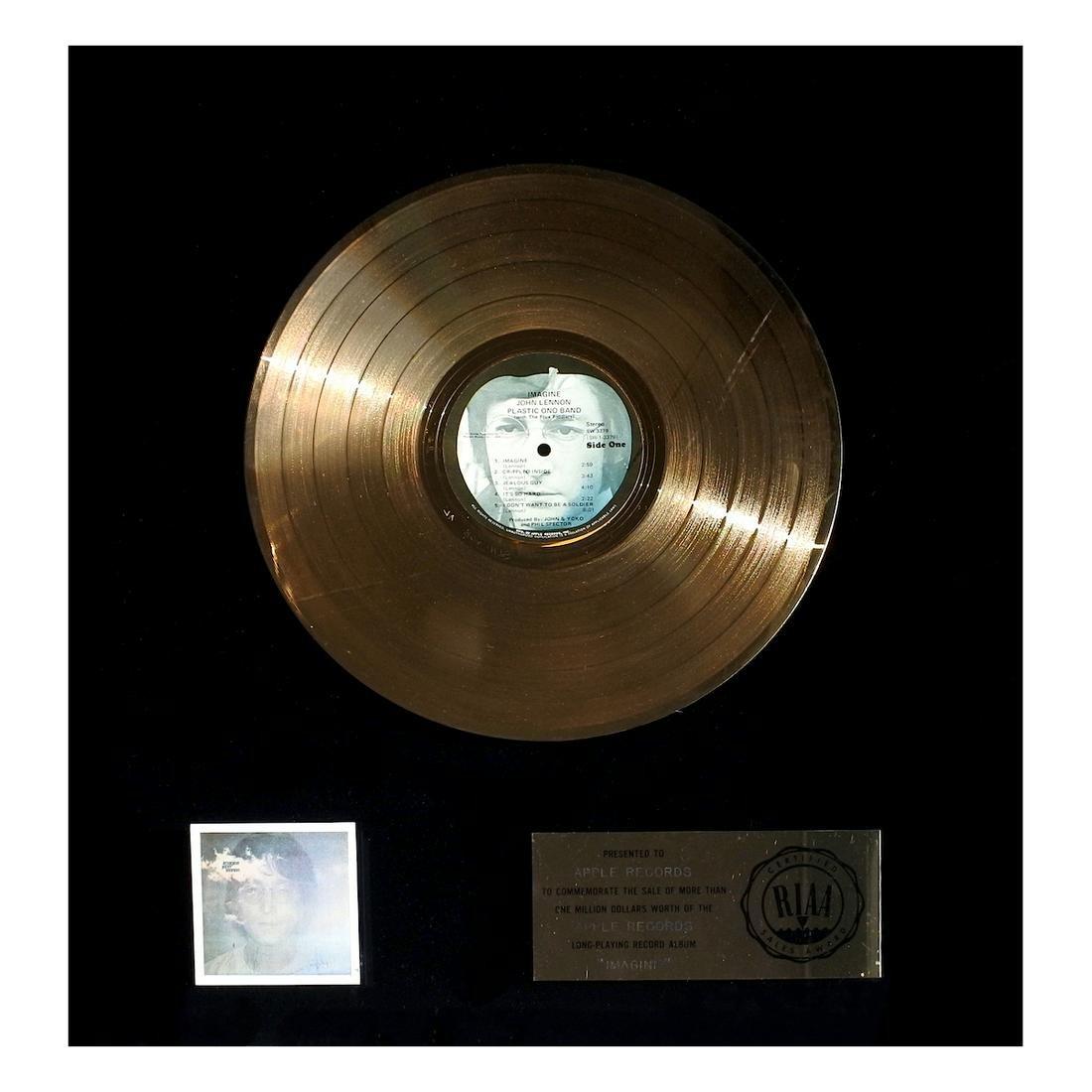 John Lennon - Imagine - RIAA Record Award