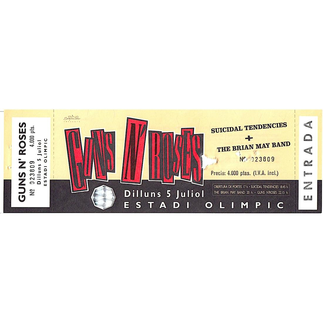 Guns N' Roses - 1993 Vintage Concert Ticket
