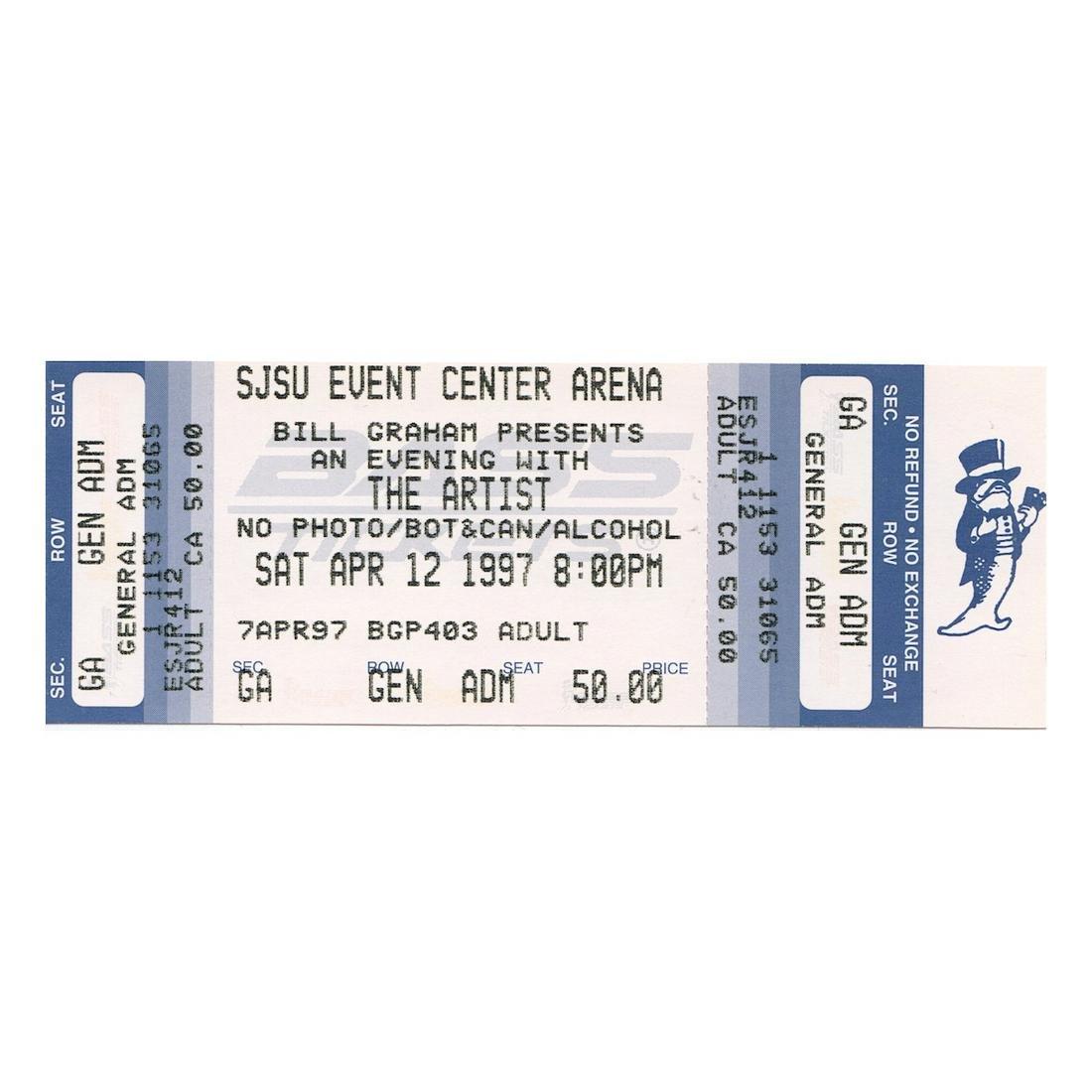 Prince - 1997 Vintage Concert Ticket