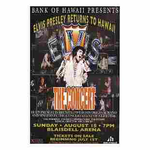 Elvis Presley Concert Poster