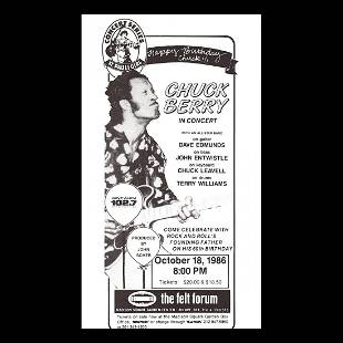 Chuck Berry 1986 Concert Poster