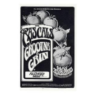 The Rascals 1971 Fillmore Concert Handbill