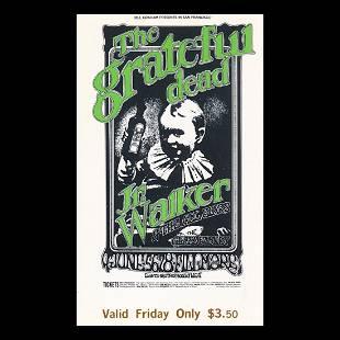 Grateful Dead Fillmore 1969 Vintage Concert Ticket