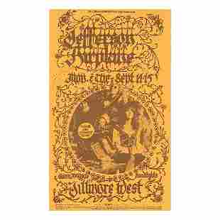 Jefferson Airplane 1970 Concert Handbill