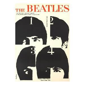 The Beatles - Help - 1964 Polish Concert Poster