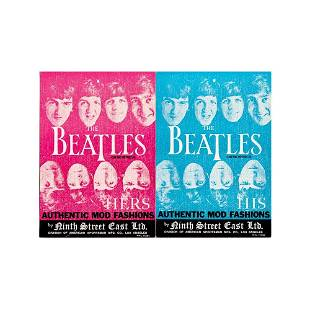 The Beatles 1966 Mod Fashion Cards