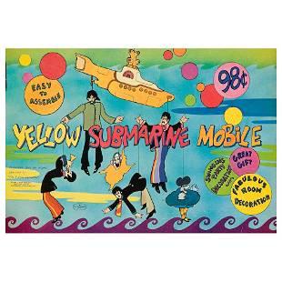 The Beatles 1968 Yellow Submarine Mobile
