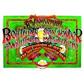 Bob Dylan  Stevie Wonder  1997 Signed Concert Poster
