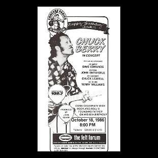 Chuck Berry - 1986 Concert Poster