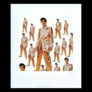 Elvis Presley - Signed Lithograph Print