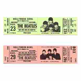 The Beatles - Hollywood Bowl - Promotional Tickets