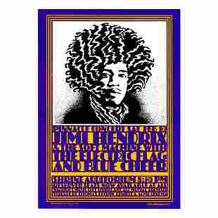Jimi Hendrix - 1968 Pinnacle Concert Handbill