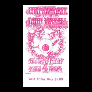 Jimi Hendrix - Fillmore - 1968 Vintage Concert Ticket