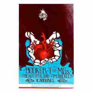 Booker T. & the M.G.'s - 1968 Signed Handbill