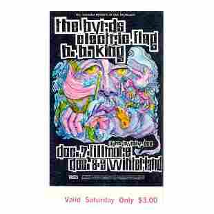 The Byrds - Fillmore - 1967 Vintage Concert Ticket